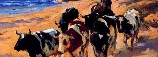 oxen-at-the-beach-1916