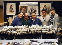 The Rosemary Brushes booth at PACE 2014