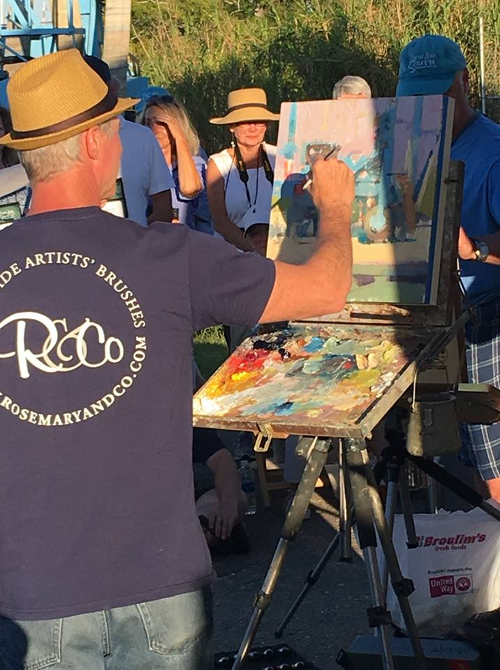 Larry Moore demonstration at Plein Air South 2017
